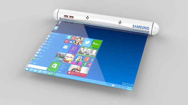 tablette samsung design flexible