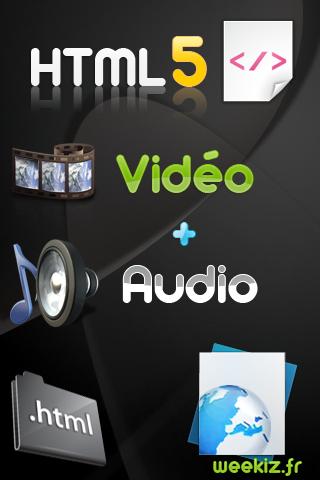 html 5 intègrant vidéo et audio