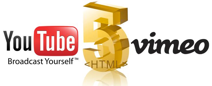 html5 pour youtube et vimeo