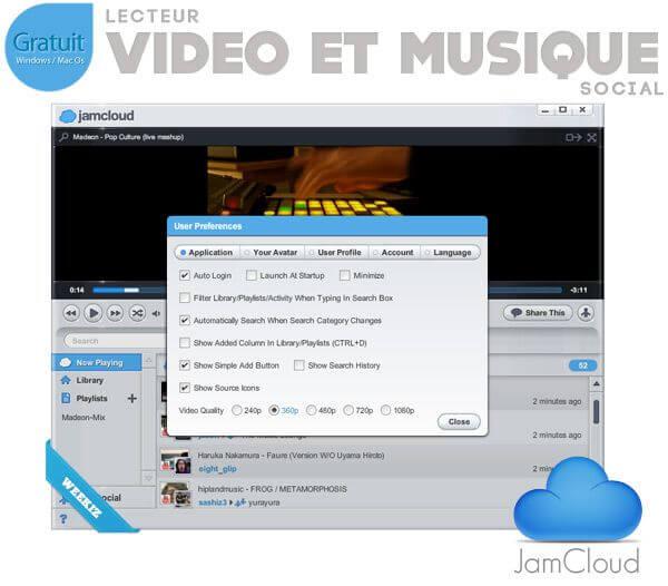 JamCloud-preference