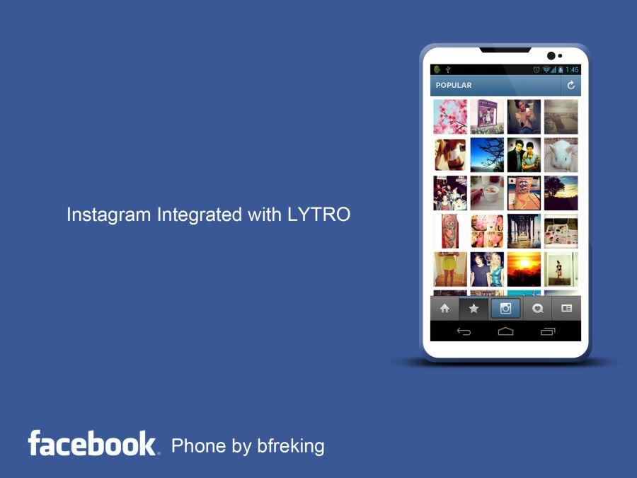 un concept de telephone facebook
