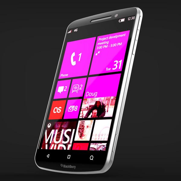 Design de smartphone blackberry
