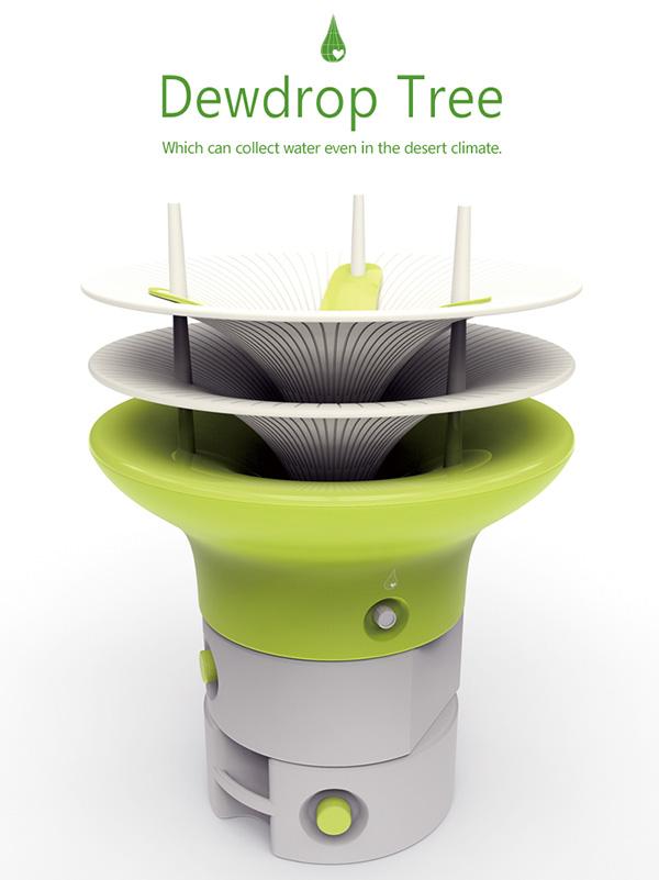 collecteur d'eau biomimétique