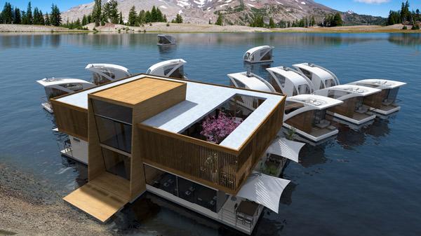 Hotel sur l'eau